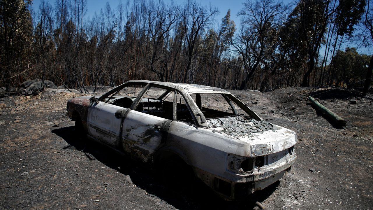 Monchique, en el sur de Portugal, lleva seis días ardiendo.Los turistas se protegen de la lluvia en Oviedo