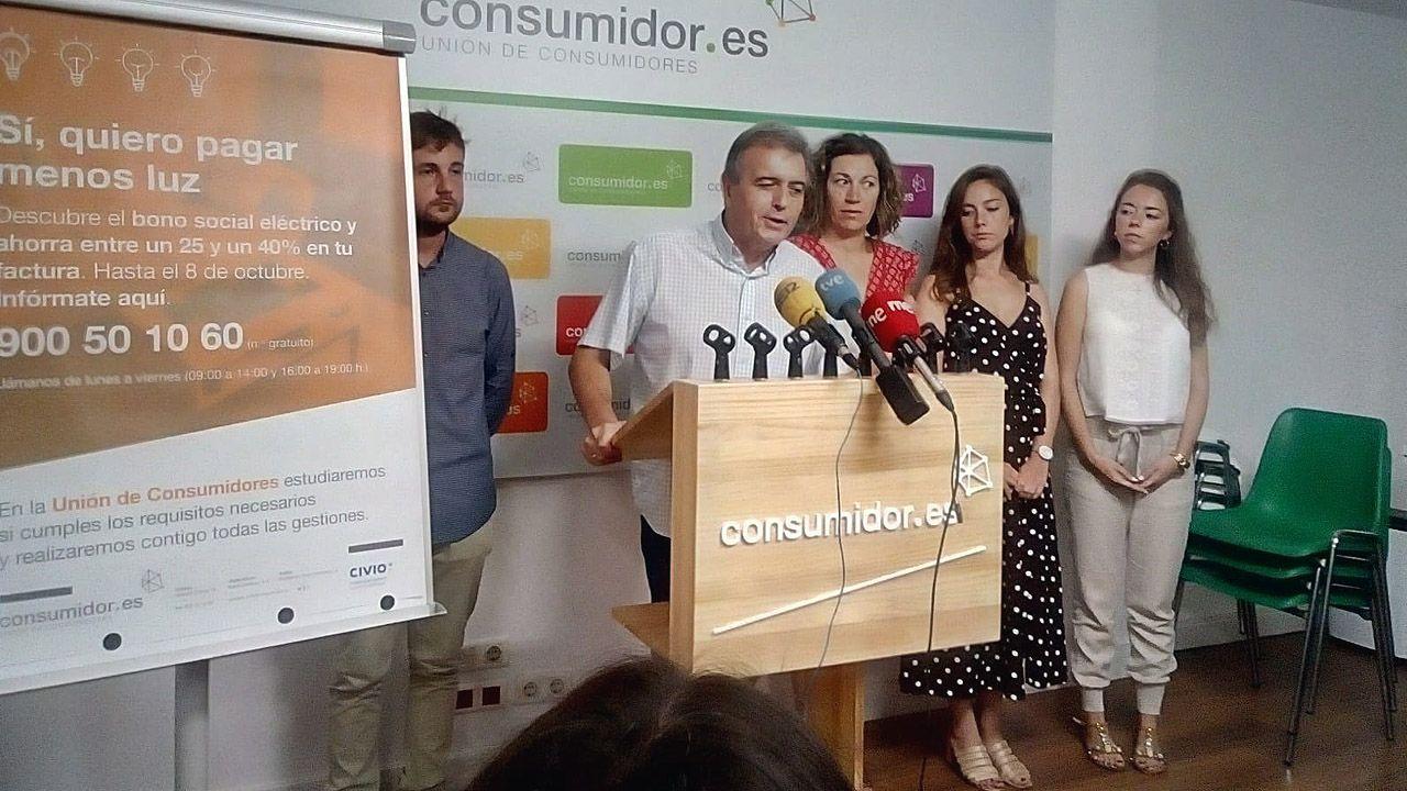 La luz más cara del año.El presidente de UCE, Dacio Alonso, presenta una campaña en la sede