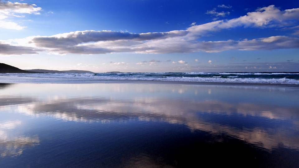 La playa de A Borna.Playa de Razo (Carballo)