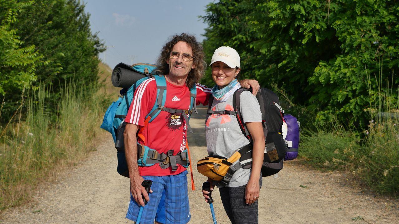 Josep e Inessa, gerundense y rusa, un matrimonio fortalecido por el Camino