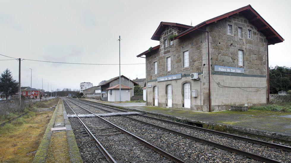 La estación de Pobra de San Xiao, en desuso