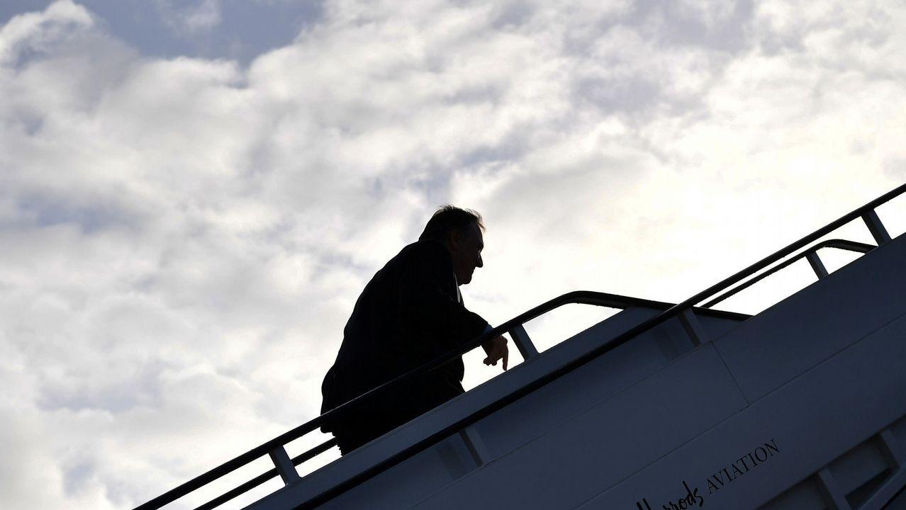 Entrevista a Ignacio Blanco (VOX).Mike Pompeo subiendo al avión con destino a Bruselas