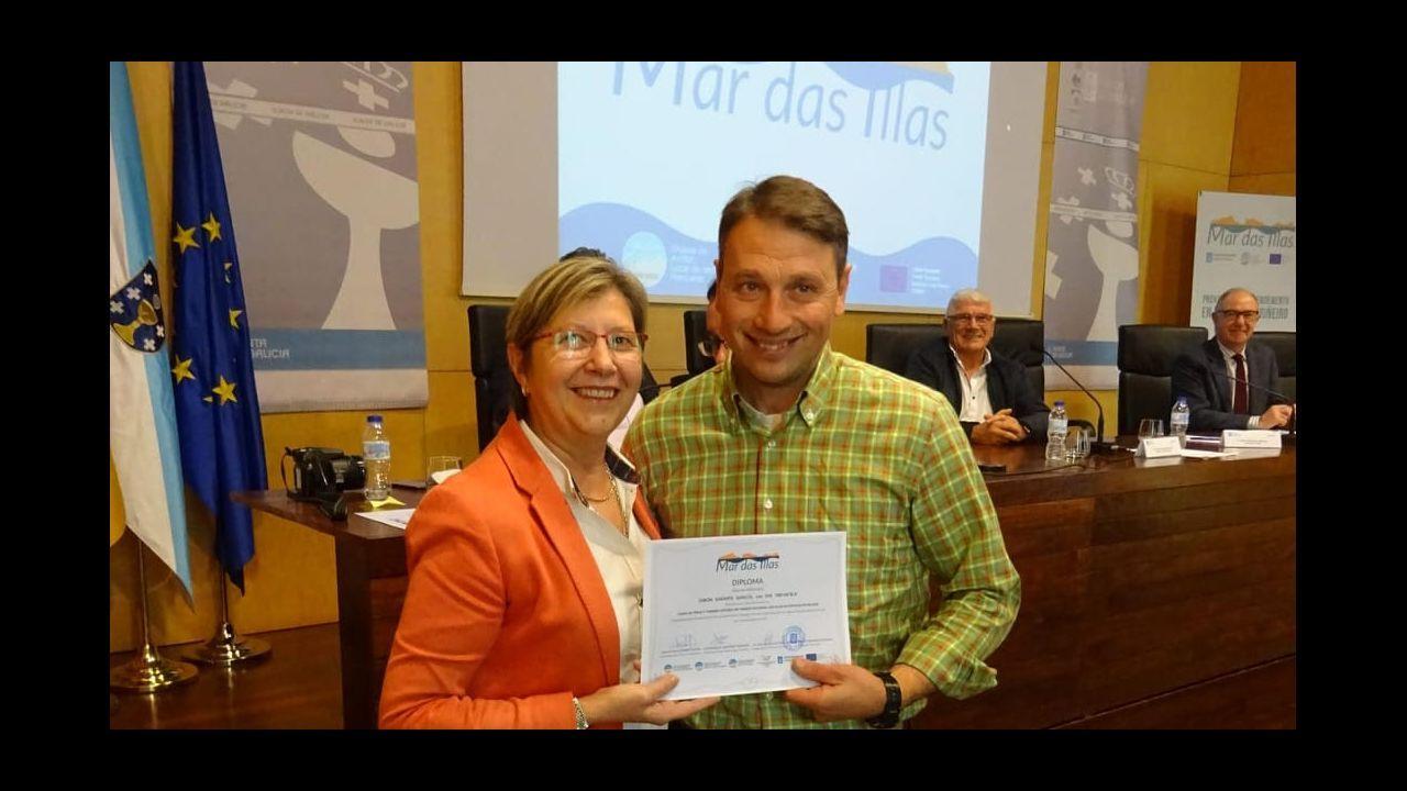 La universidad que navega en Ferrol.La conselleira Quintana, que representó a las comunidades autónomas, señala la hora de finalización del Consejo
