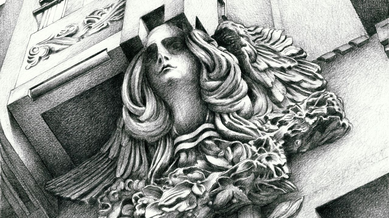 La figura humana adquiere mayor protagonismo en este volumen. Como ejemplo, una de las ménsulas de Ramón Núñez en un edificio del Preguntoiro