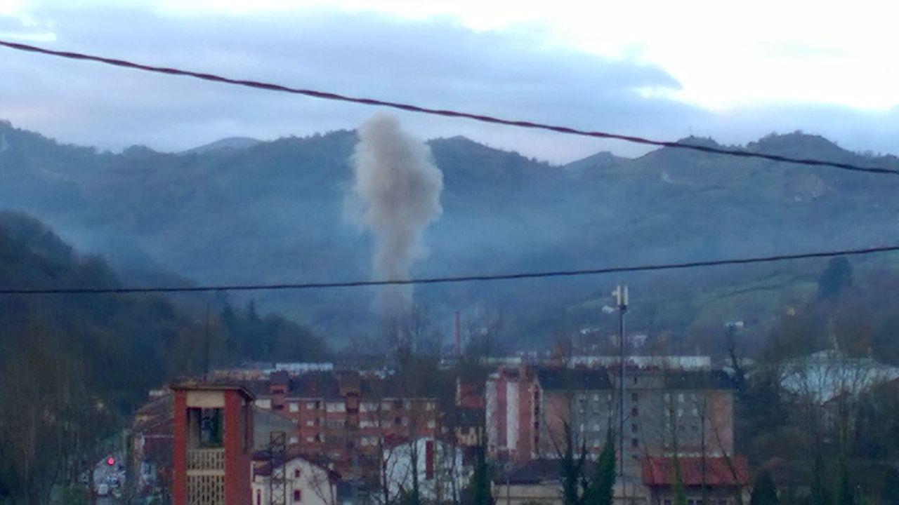 Nube contaminante en Trubia