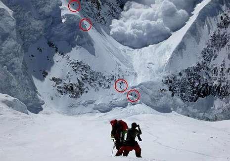 Avalancha en el Annapurna, donde los montañeros se la juegan.