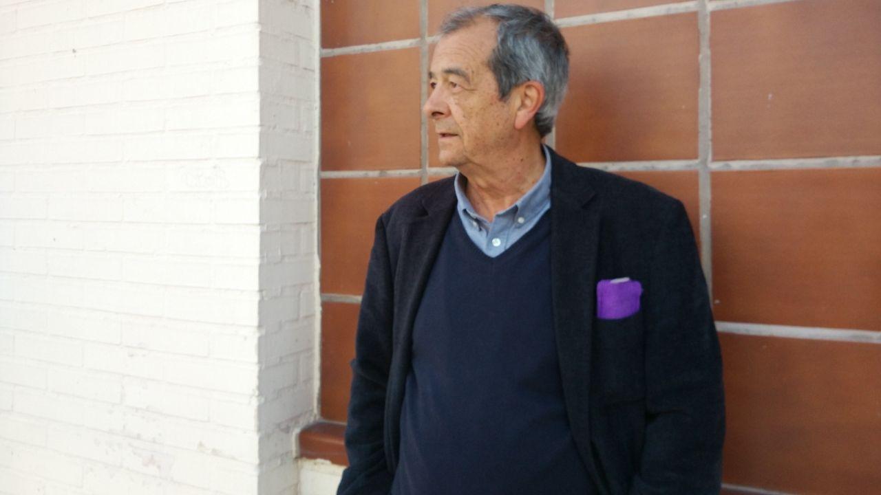 Javier Civieta.Javier Civieta, ayer, antes de la charla en Gijón