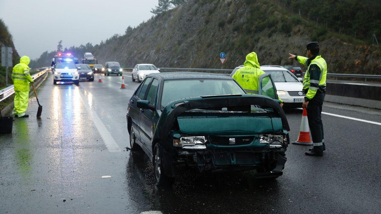 Accidente en la autovía de Noia