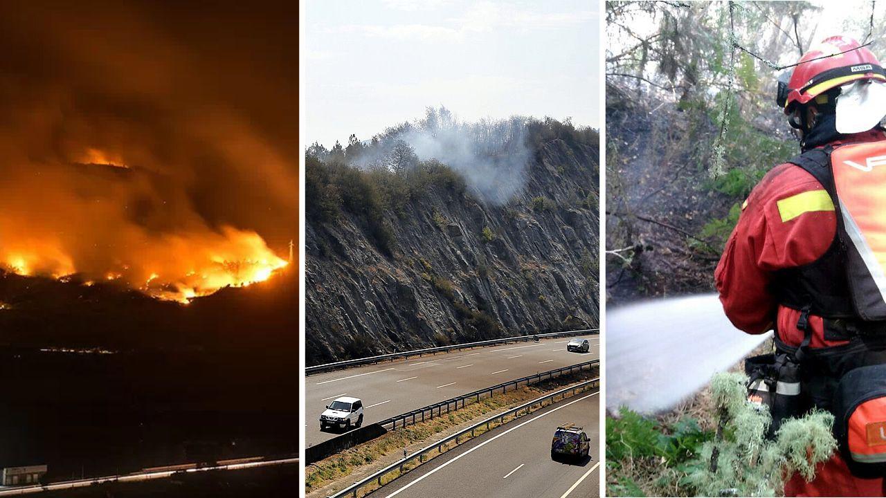 .Una de las zonas que ardió en Monterrei.
