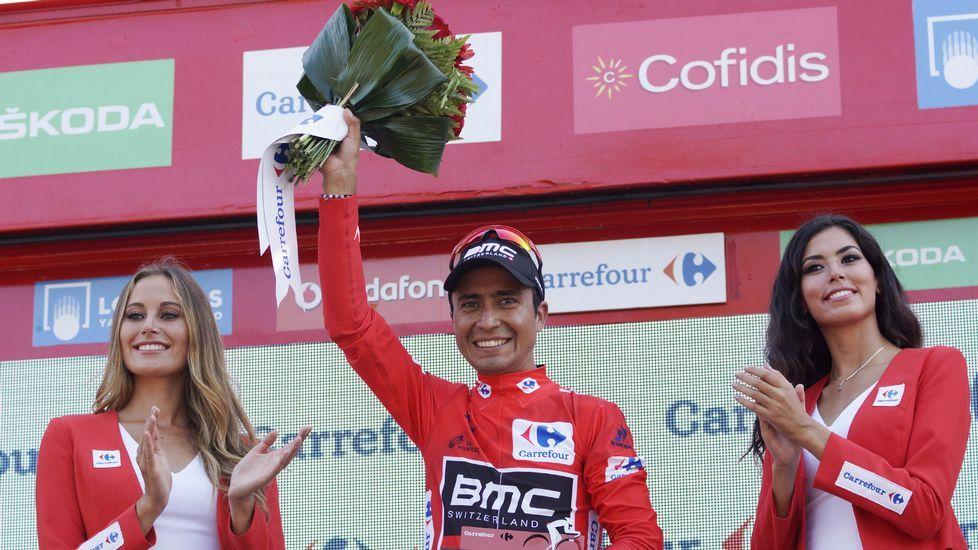 La Ribeira Sacra enamora a La Vuelta.Nairo Quintana celebra su triunfo en Lagos de Covadonga