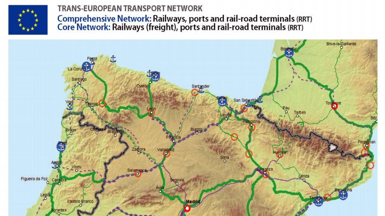 Terminal ferroviaria de mercancías del puerto de A Coruña