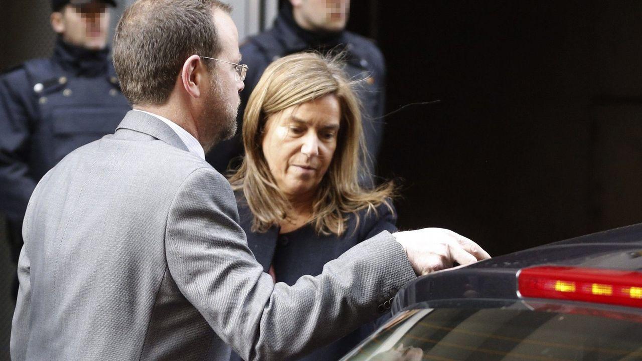 .Fotografía de archivo de Ana Mato, a su salida de la Audiencia Nacional