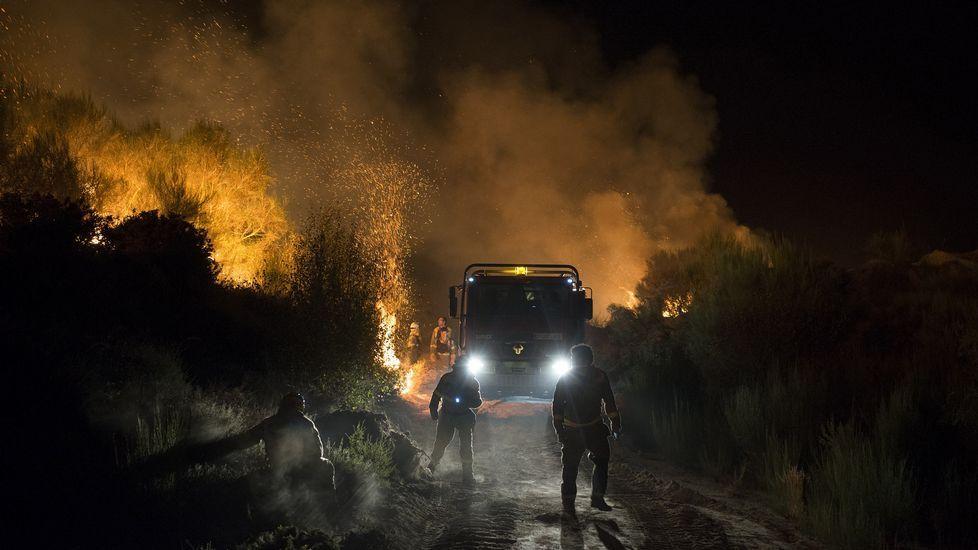 .El incendio de Cualedro, anoche