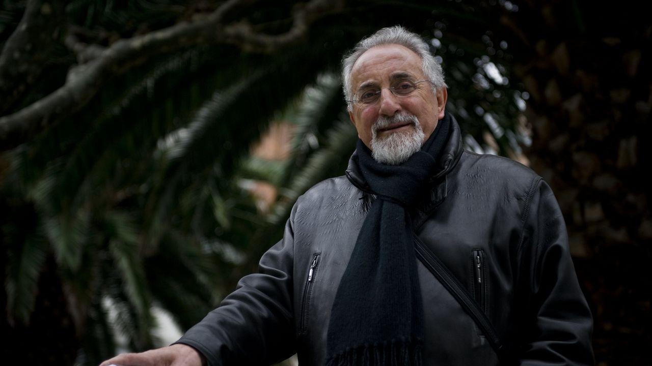Antes y después de una obra en Belesar.Luciano Rodríguez traduce ao galego a poetas e cantantes