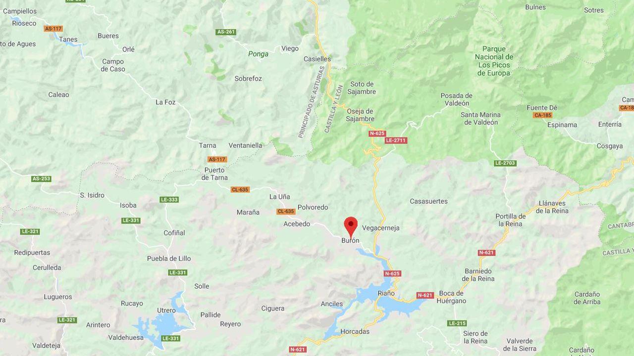 El municipio leonés de Burón se encuentra cerca de los límites de Asturias y Cantabria, en la cordillera
