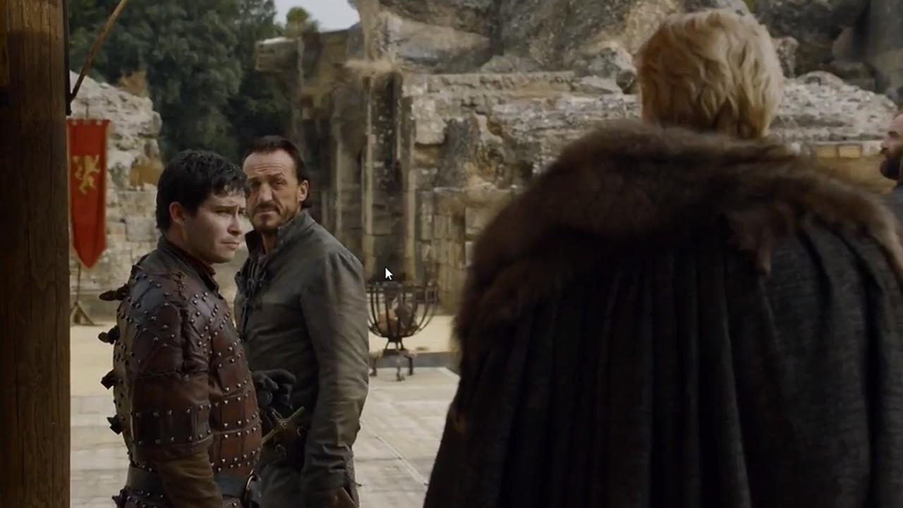 Podrick Payne, Bronn y Brienne de Tarth
