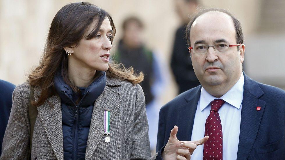 Iceta y Parlon llaman a votar en el PSC con la vista puesta en el no a Rajoy.