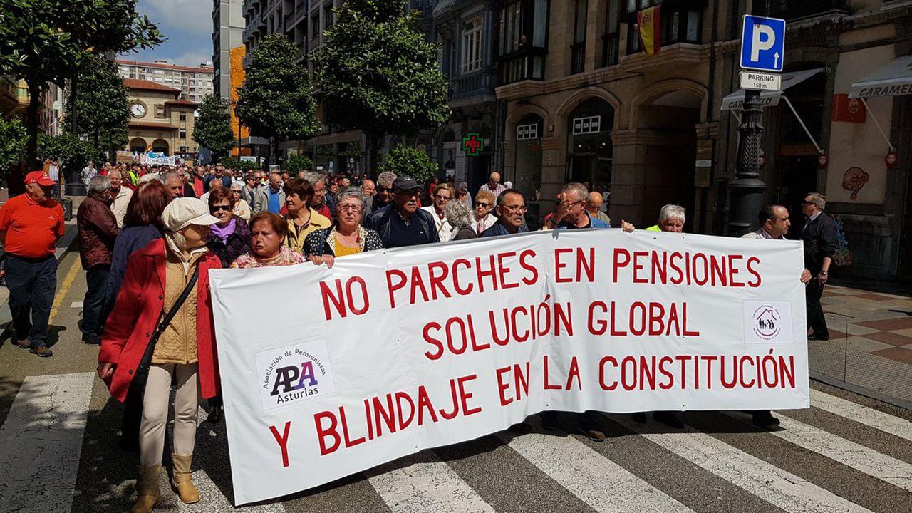 Manifestación por las pensiones en Oviedo