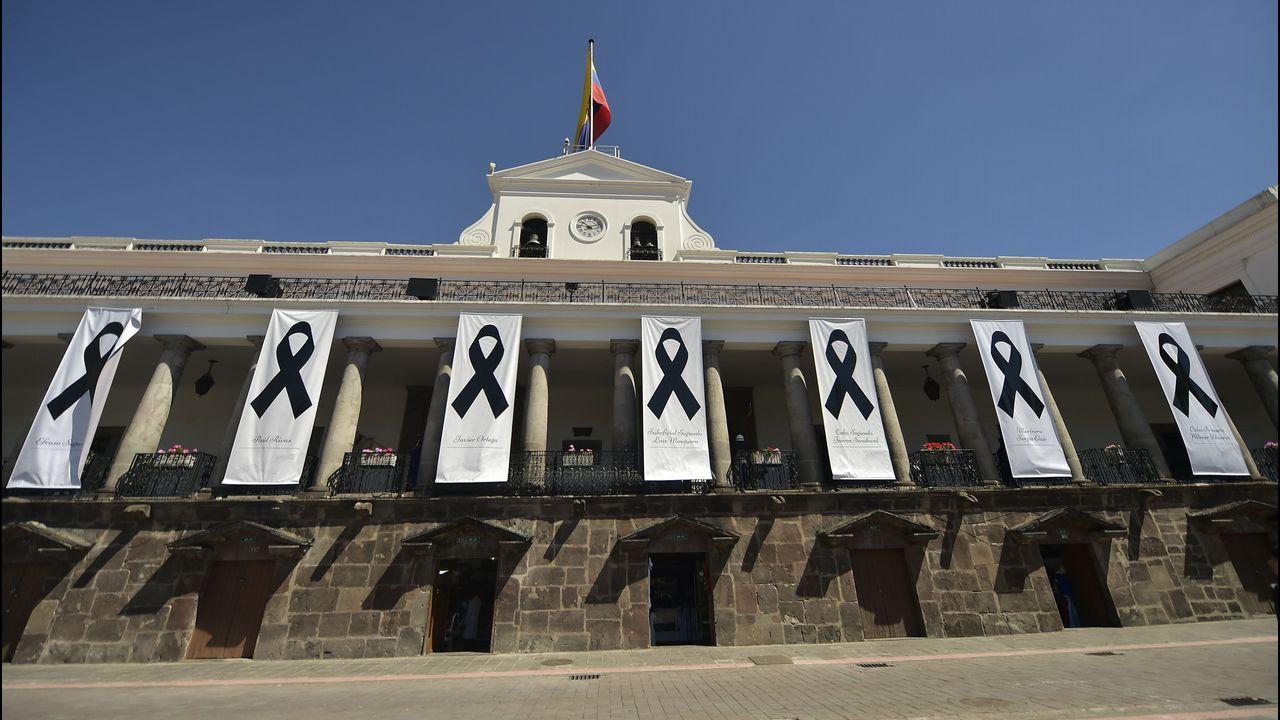 .Homenaje a las víctimas de las FARC en la frontera colombiana con Ecuador