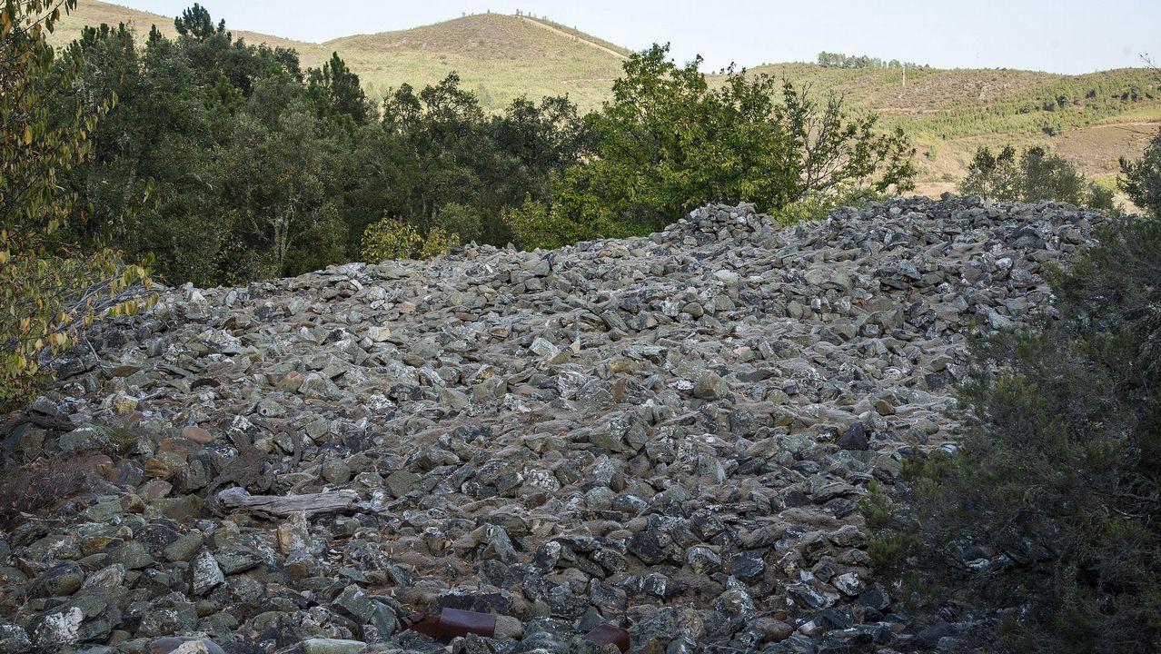 Otro aspecto de los depósitos de cantos rodados de Peites