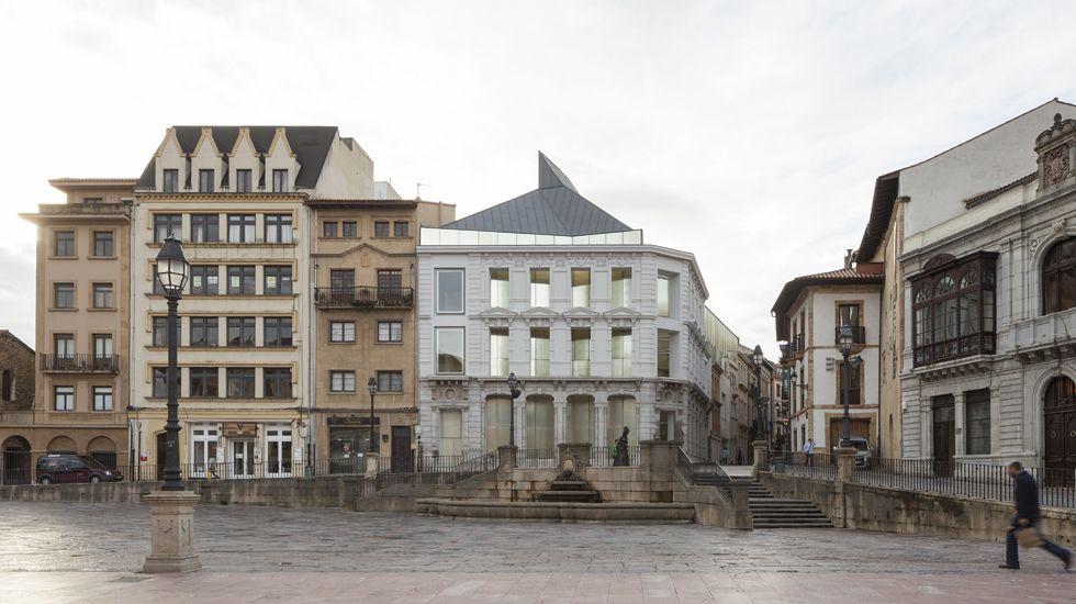 Israel Sastre y Mike Vergara.La ampliación del Museo de Bellas Artes de Asturias