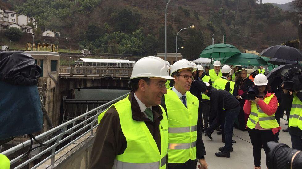 Inauguración de la central hidroeléctrica San Pedro II.Central nuclear de Garoña, en una imagen de archivo