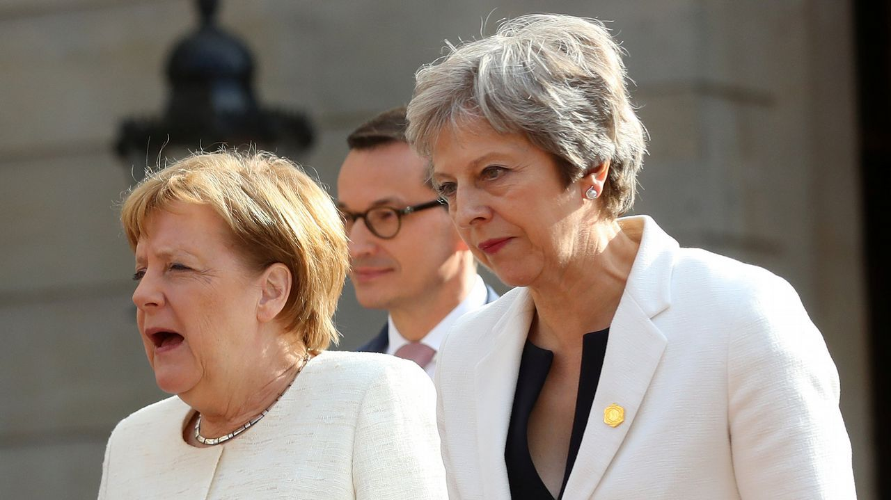 .Theresa May y Angela Merkel este martes en Londres