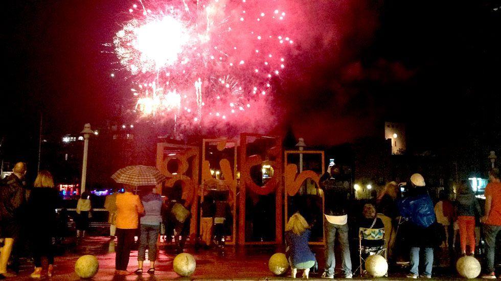 O Festival da Luz ilumina Boimorto.Marino González, director de Metrópoli