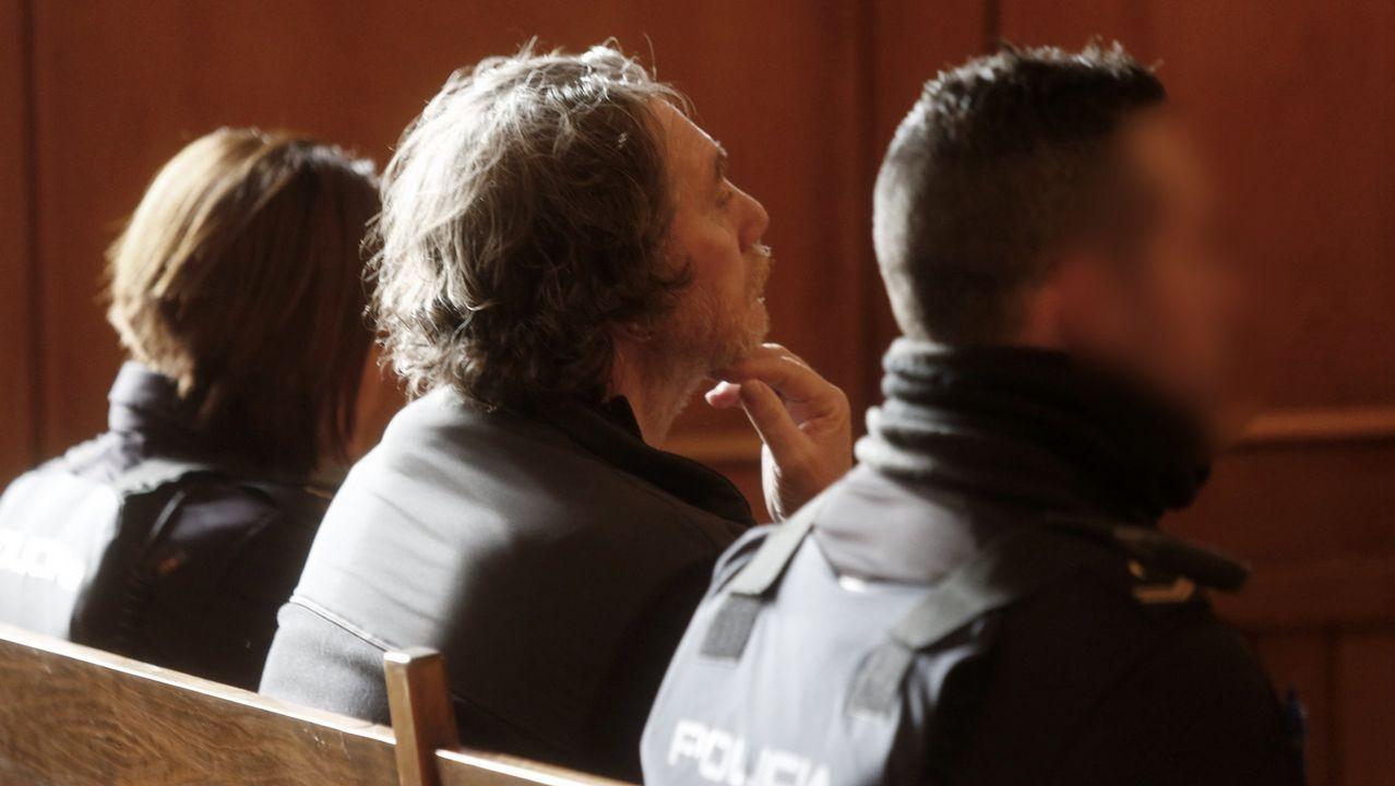Sito Miñanco declara en la Audiencia Provincial de Pontevedra.Sito Miñanco, ante la Audiencia de Pontevedra