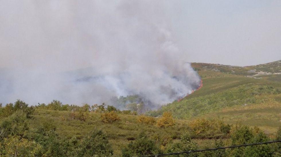 Incendio en Degaña