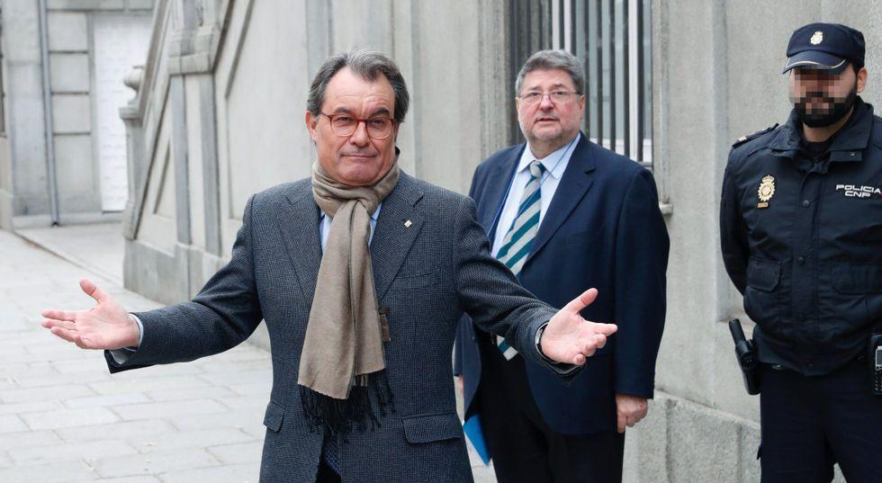 Así fue el juicio del caso Palau.Felix Millet, a su llegada hoy al juicio