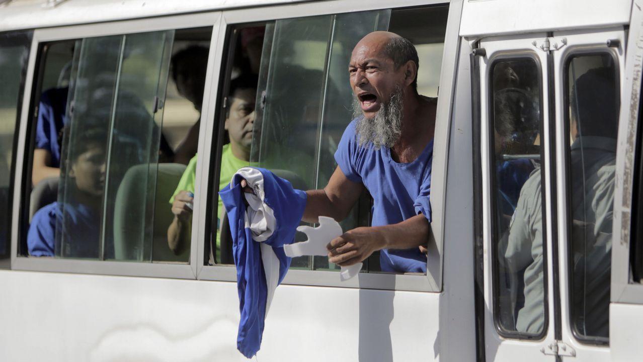 Uno de los presos liberados de la prisión La Modelo, en la capital de Nicaragua