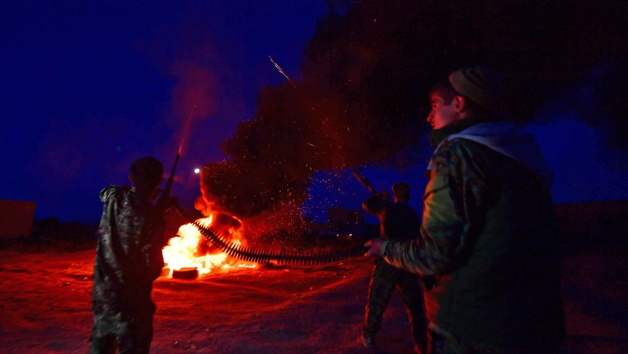 Los kurdos peinaron ayer el campamento de los radicales para retirar explosivos