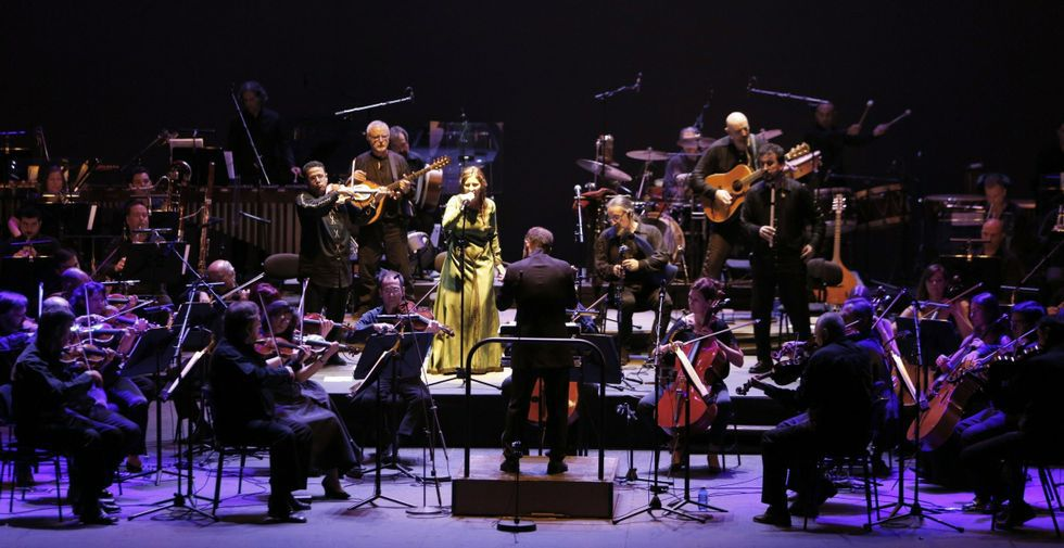 Luar na Lubre grabó con la Orquesta Sinfónica de Galicia el disco «Torre de Breoghán».