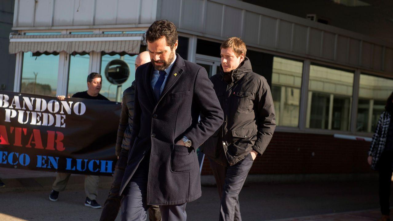 Torrent visitó a los presos en Soto del Real