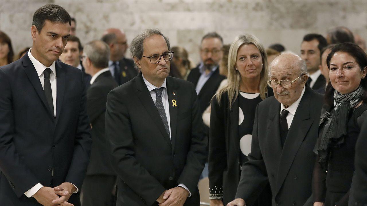 Último adiós a Montserrat Caballé en Barcelona.Pablo Casado
