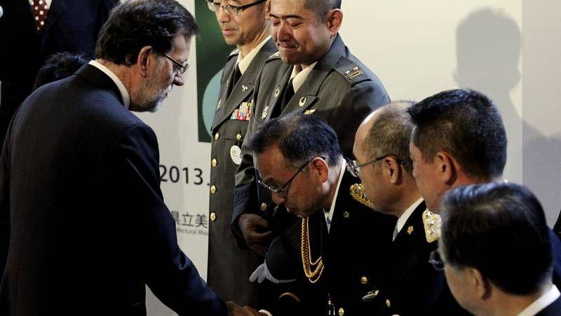 Rajoy, con los «héroes de Fukushima»