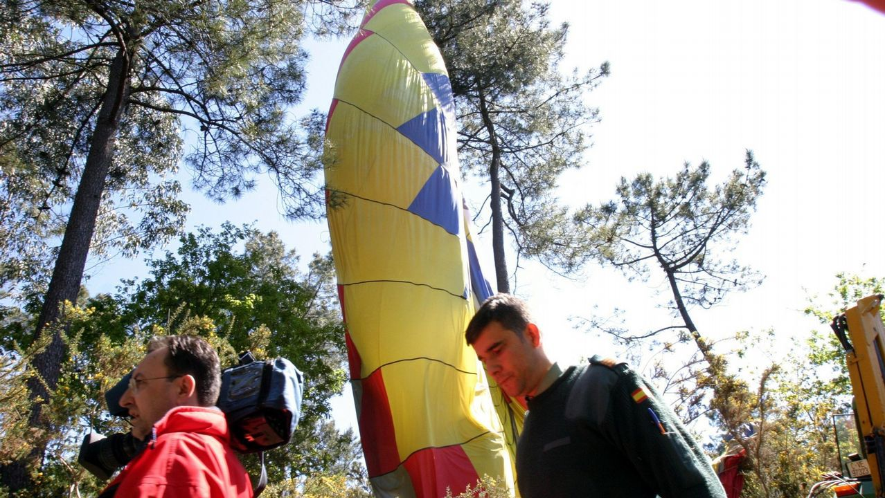 Accidente de un globo en Santiago en el 2004. Murieron los tres tripulantes