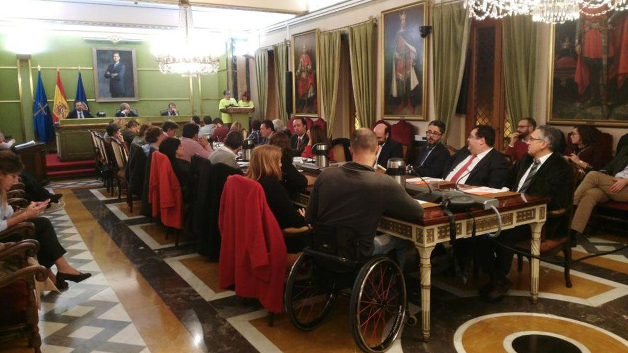 Belarmino Feito, nuevo presidente de FADE.Pleno del Ayuntamiento de Oviedo