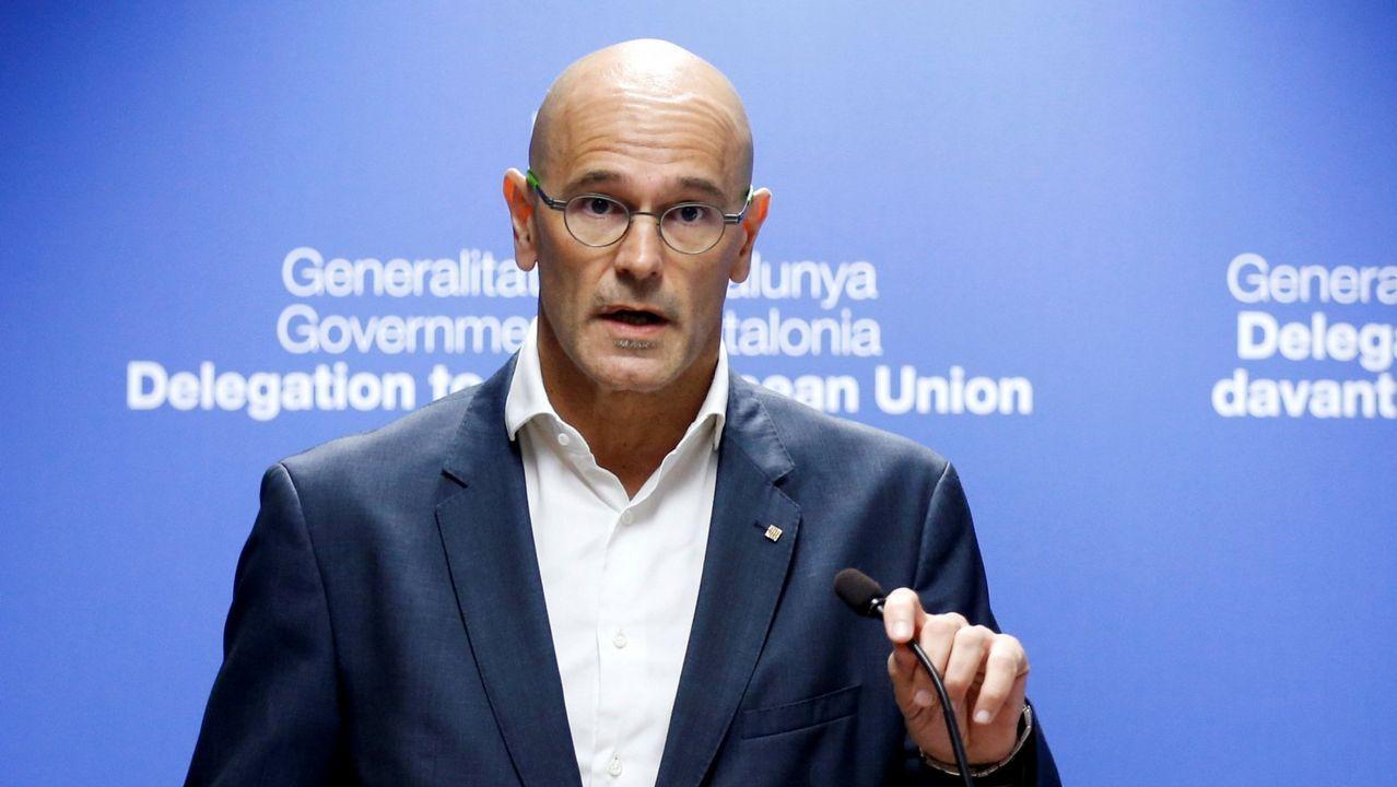 Raül Romeva. Exconsejero de Relaciones Internacionales, está acusado de rebelión agravada con malversación.