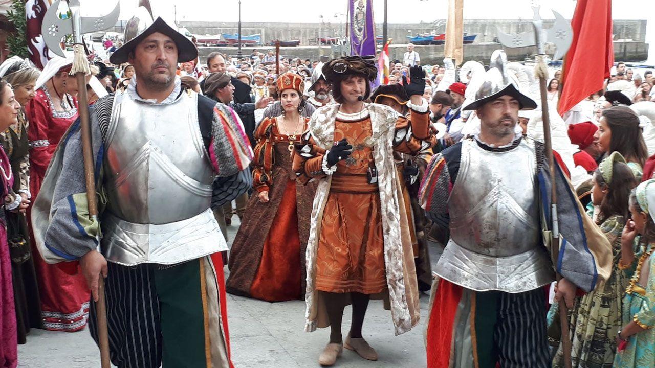 Desembarco de Carlos V en Tazones