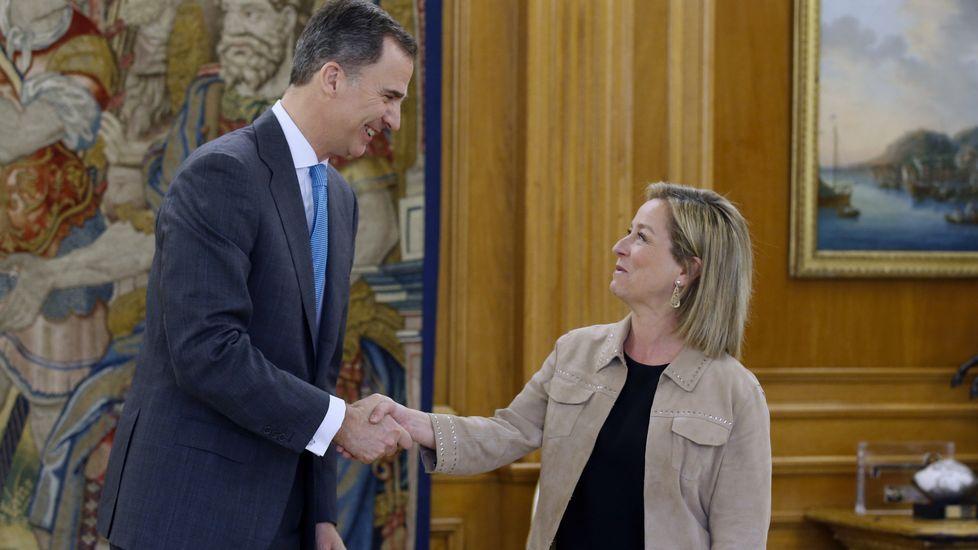 El rey Felipe VI ha recibido en Zarzuela a la diputada de Coalición Canaria Ana Oramas.