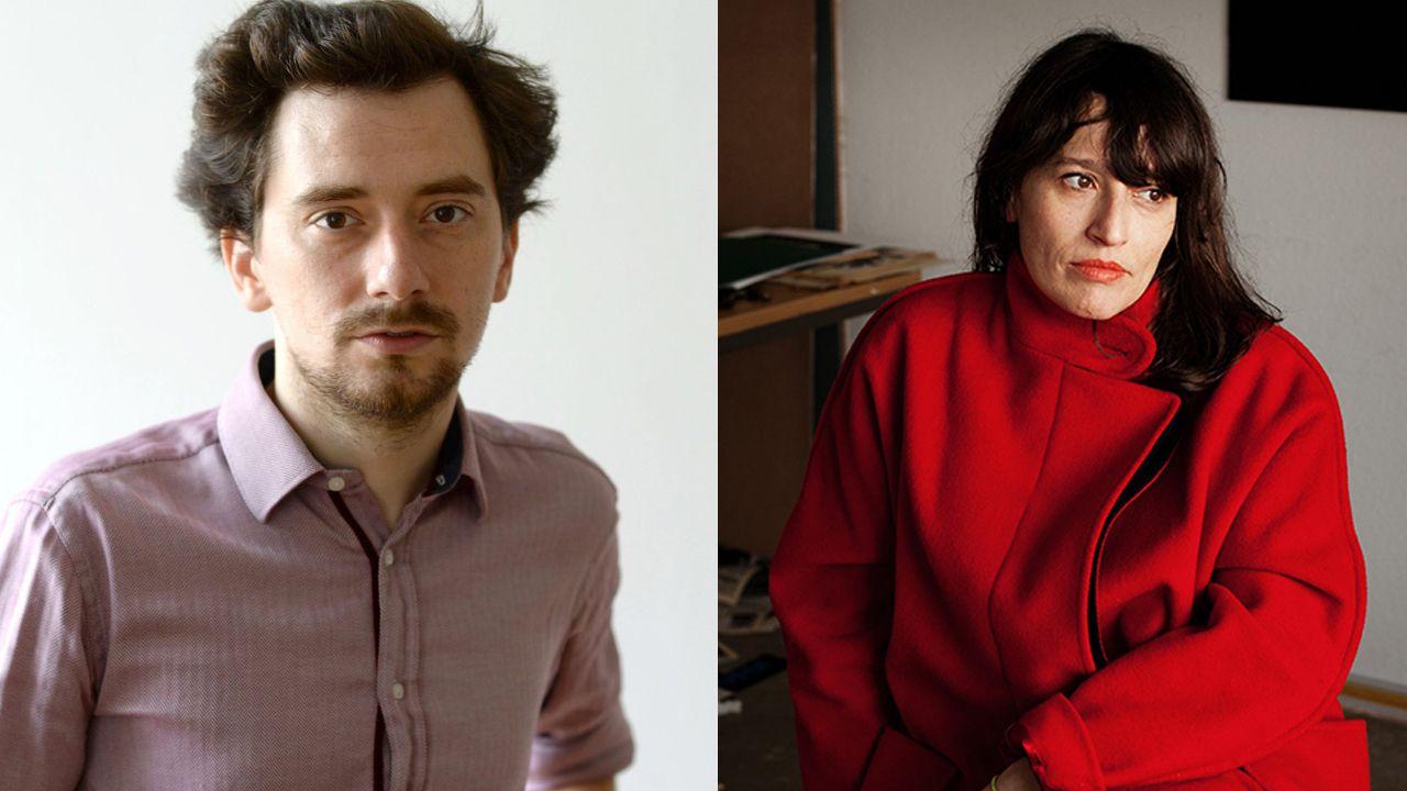 Eli Cortiñas (foto de Yana Wernicke-Artbelin)  y Johann Lurf (foto de Filmmuseum)