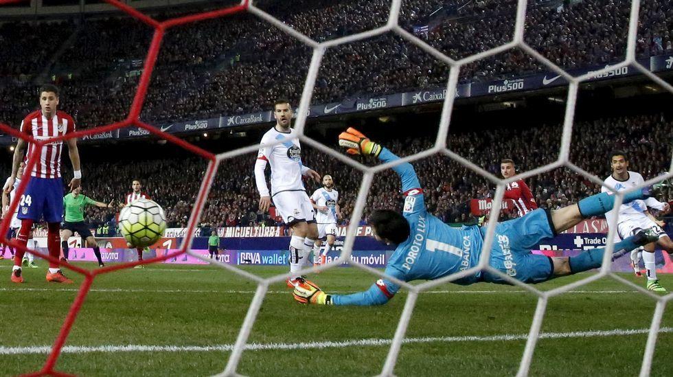 El Atlético de Madrid-Deportivo, en fotos
