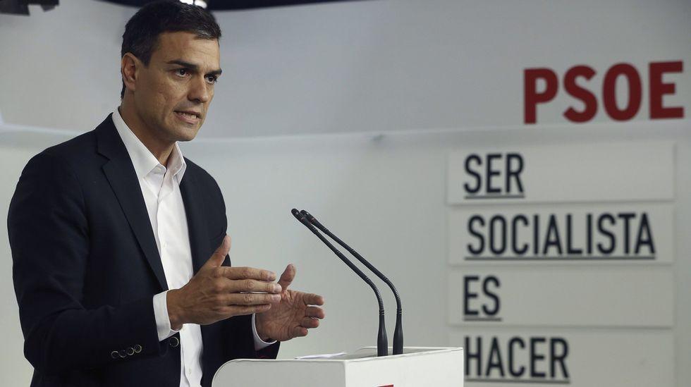 .El secretario general del PSOE, Pedro Sánchez