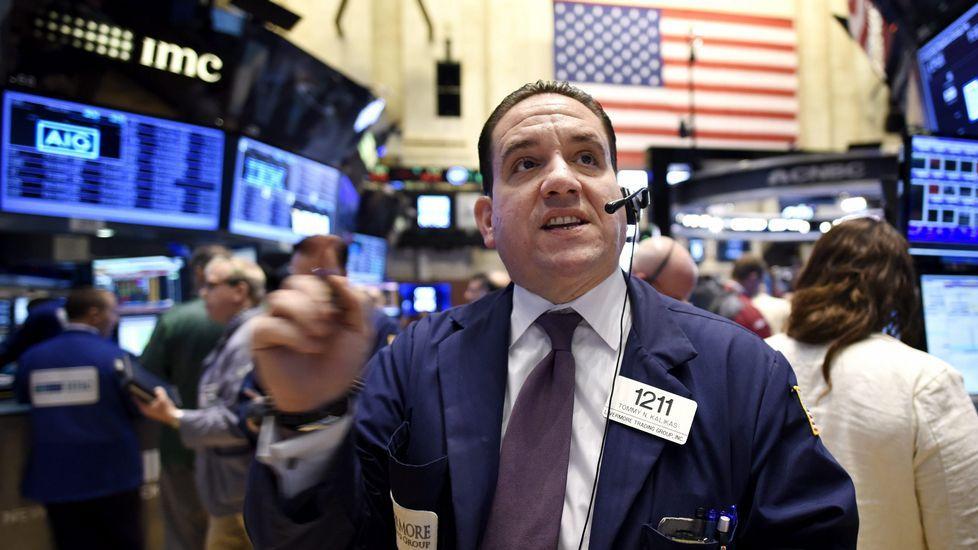 Un corredor de bolsa, hoy en Wall Street