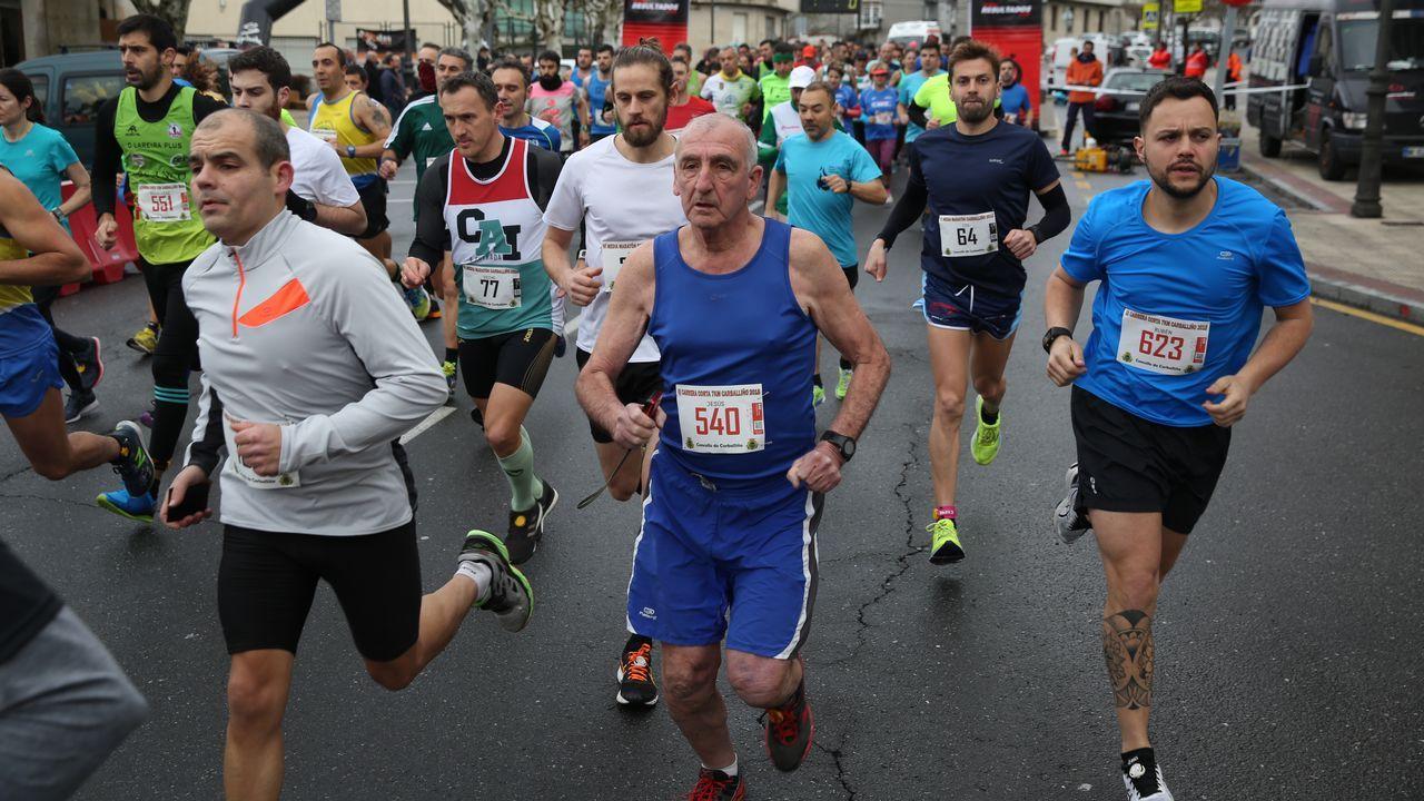 Buena participación y ambiente en la media maratón de O Carballiño