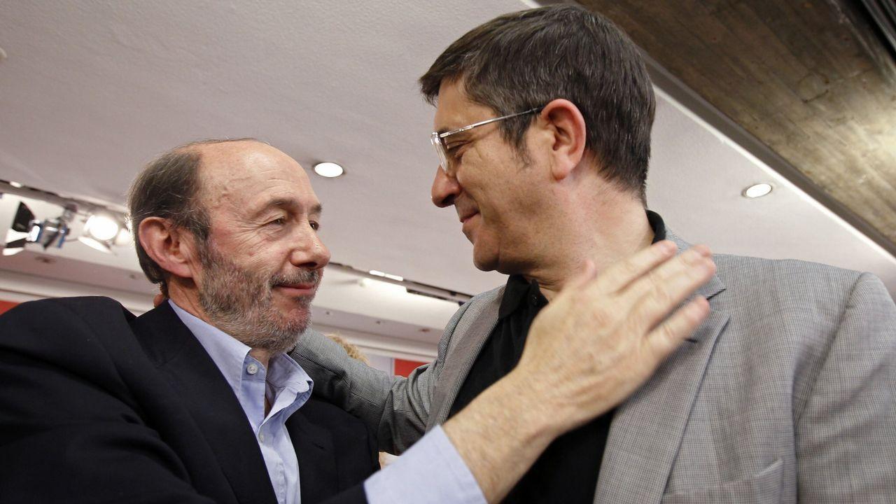 Con Patxi López en el 2011 tras ser elegido como candidato socialista a la presidencia