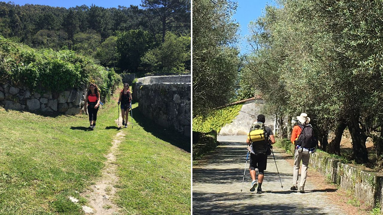 Camino de Santiago en Kayak, peregrinos en la isla de Cortegada