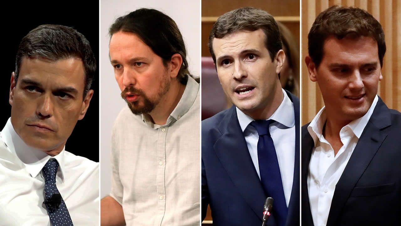Pedro Sánchez: ?No nos va a marcar la agenda un corrupto?.Carolina Bescansa y Carmen Santos, en una foto de archivo